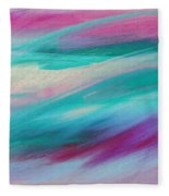 Cool Waves - Abstract - Digital Painting Fleece Blanket