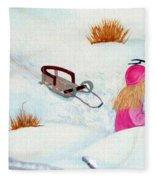 Cool  Winter Friend - Snowman - Fun Fleece Blanket