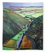 Coombe Valley Gate, Exmoor, 2009 Acrylic On Canvas Fleece Blanket