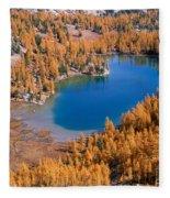 Cooney Lake Larches Fleece Blanket