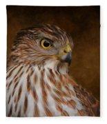 Coopers Hawk Portrait 2 Fleece Blanket