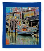 Coos Bay At Berth Fleece Blanket