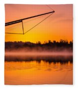Coos Bay Sunrise II Fleece Blanket