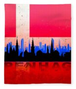 Copenhagen City Fleece Blanket