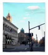 Copley Square - Old South Church Fleece Blanket