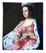 Copley's Abigail Smith Babcock Or Mrs. Adam Babcock Fleece Blanket