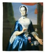 Copley's Anne Fairchild Bowler -- Mrs. Metcalf Bowler Fleece Blanket