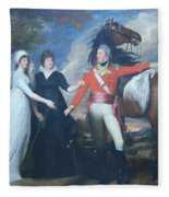 Copley's Colonel William Fitch And His Sisters Sarah And Ann Fitch Fleece Blanket