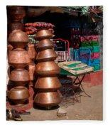 Copper Pots Fleece Blanket