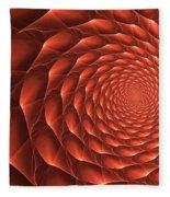 Copper Spiral Vortex Fleece Blanket