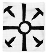 Coptic Cross Fleece Blanket