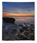 Coral Cove Beach At Dawn Fleece Blanket