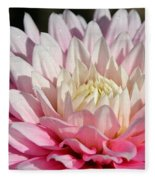 Coral Dahlia Fleece Blanket