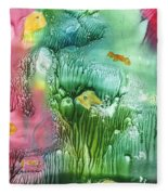 Coral Fishies Fleece Blanket