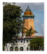 Coral Gables House And Water Tower Fleece Blanket