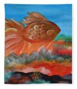 Coral Land Goldfish Fleece Blanket