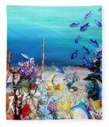 Coral Reef Blues  Fleece Blanket