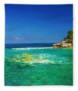 Coral Seas Haiti Fleece Blanket