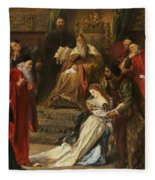 Cordelia In The Court Of King Lear, 1873 Fleece Blanket
