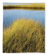 Cordgrass And Marsh, Southern Fleece Blanket