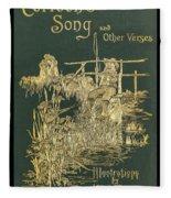 Coridons Song And Other Verses Fleece Blanket