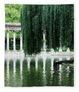 Corinthian Colonnade And Pond Fleece Blanket