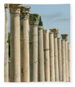 Corinthian Columns In Turkey Fleece Blanket