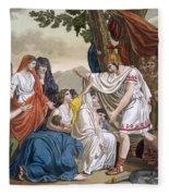 Coriolanus And His Mother Volumnia Fleece Blanket
