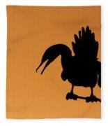 Cormorant Silhouette Fleece Blanket