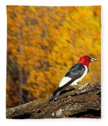 Corn Fed Woodpecker Fleece Blanket