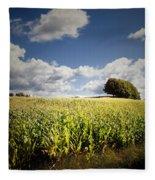Corn Field Fleece Blanket