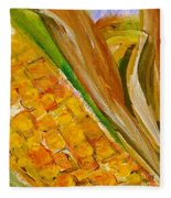 Corn In The Husk Fleece Blanket