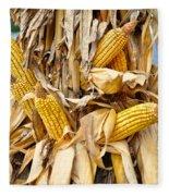 Corn Shock - Sign Of Autumn Fleece Blanket