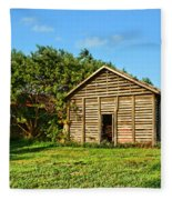 Corncrib In Afternoon Light Fleece Blanket
