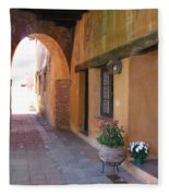 Corner Arch, Mission San Juan Capistrano, California Fleece Blanket