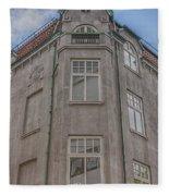 Corner Building Helsingborg 02 Fleece Blanket