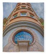 Corner Building Helsingborg Fleece Blanket