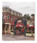Corner Cafe Main Street Disneyland 02 Fleece Blanket