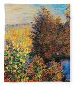 Corner Of Garden In Montgeron Fleece Blanket