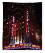 Corner Of Radio City Music Hall Fleece Blanket
