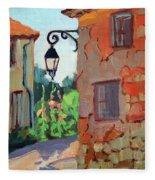Street Corner In St. Colombe Fleece Blanket