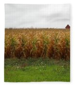 Cornfield And Farmhouse Fleece Blanket