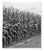 Cornfield Black And White Fleece Blanket