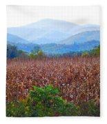 Cornfield In The Mountains Fleece Blanket