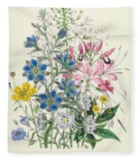Cornflower Fleece Blanket