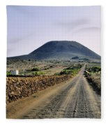 Corona Volcano On Lanzarote Fleece Blanket