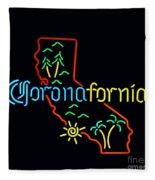 Coronafornia Fleece Blanket