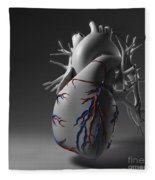 Coronary Vessels Fleece Blanket