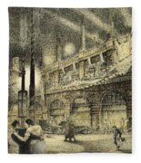Coronation Evening London 1937 Fleece Blanket
