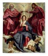 Coronation Of The Virgin Fleece Blanket